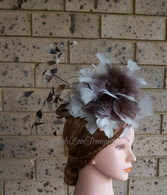 Natural Colour Feather Fascinator Headband Princess Kate