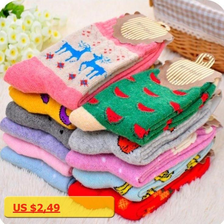 womens socks 2017 New HOT High Quality Women Cotton printed sock Short Girl winter socks Thin woolen socks For Ladies A385