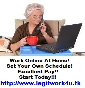 Make REAL money, doing REAL work, for REAL companies.  Excellent Pay. See proof of income!! Online Training & 24 hr. support.  GET DETAILS HERE:  http://www.legitwork4u.tk