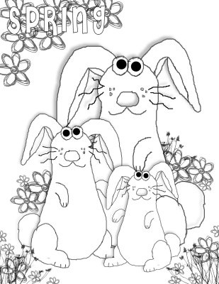 Coloring Page Bunny PagesSpring