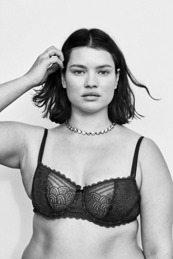 8c2aa57cb7a Editorial spread featuring plus-size women in lingerie by American Vogue.     Photo  Cass Bird for Vogue