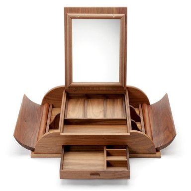 Prettiest jewelry box? Walnut Mirror Box from Manufactum, $730.