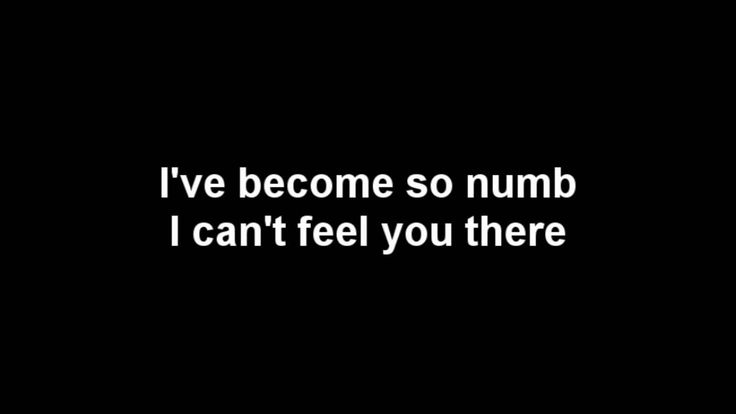 Linkin Park - Numb Lyrics [HQ] [HD] - 'Cause they all have the same issues.