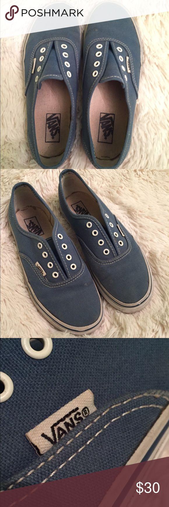 Vans shoes, used, no laces Blue Vans Vans Shoes Sneakers