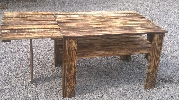meble z palet stół z dostawką z-eco