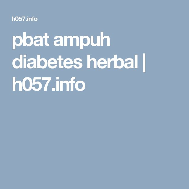 pbat ampuh diabetes herbal | h057.info
