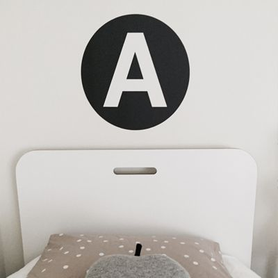 Alphadots - Reusable fabric wall decal in all letters in numbers 1-10