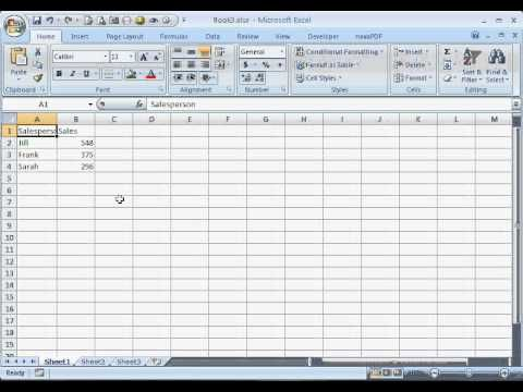 Excel exercises for the classroom