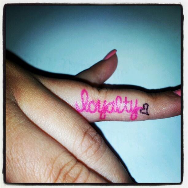 Loyalty Tattoos On Finger | www.pixshark.com - Images ...