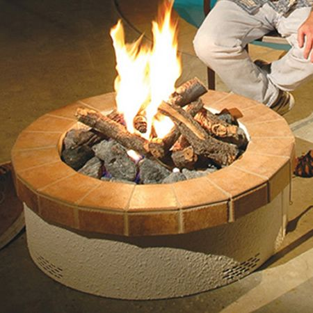 American Fyre Designs Stucco Gas Fire Pit Kit
