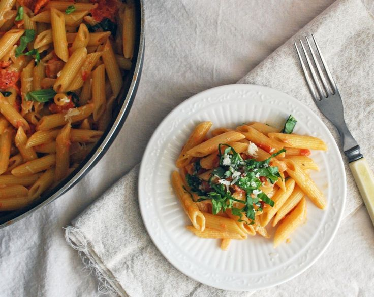 Penne with Vodka Sauce (September – delicious!)