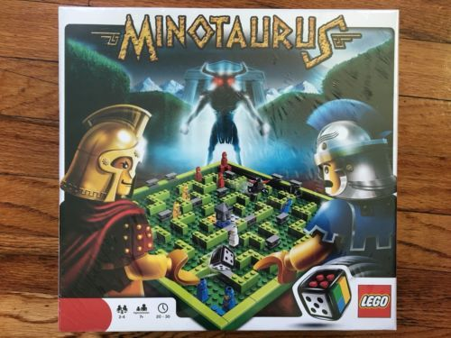 NEW Lego MINOTAURUS Board Game 3841 211 12 Microfigures Legos Spartans Minotaur