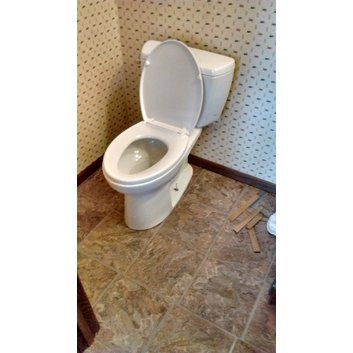 Drake ADA Compliant 1.6 GPF Elongated 2 Piece Toilet ADA comfort height Bowl Height without Seat (in.)  16.5 G-max flushing system