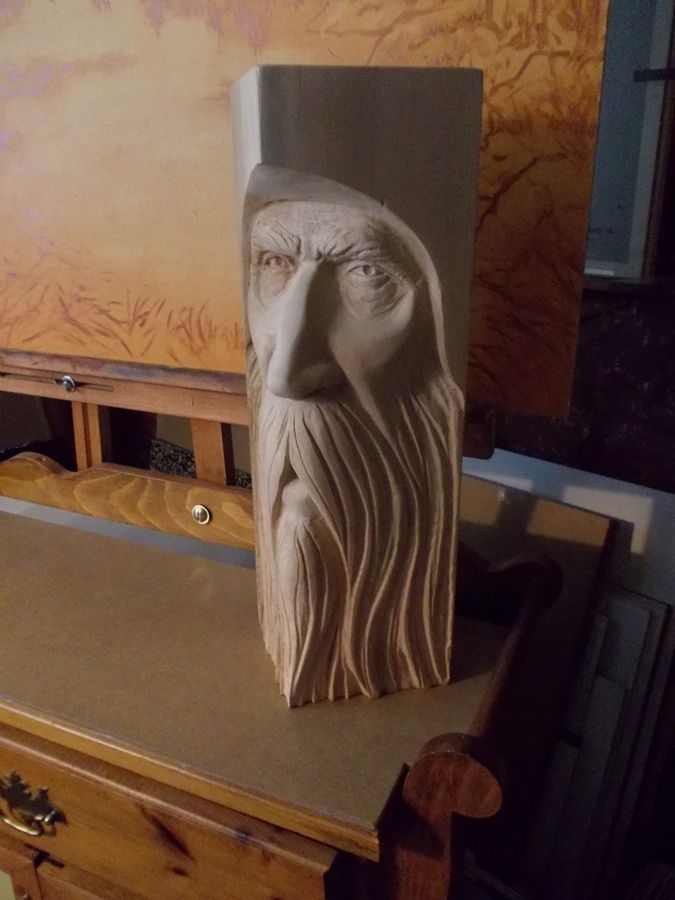 Another Woodspirit carving by Greg Hand