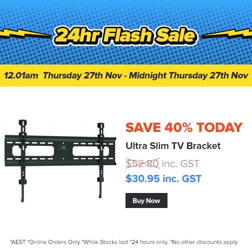 40% Off our Ultra Slim TV Bracket today only: http://www.4cabling.com.au/flash-sale.html