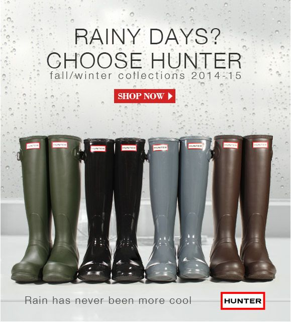 New brand in store: Hunter Rain has never been so cool!  Discover all boots on: http://www.giglio.com/eng/brands/hunter/  #hunter #rainboots #fashion #shoes #rain