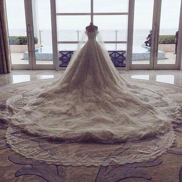 Marian Rivera's wedding dress by Michael Cinco