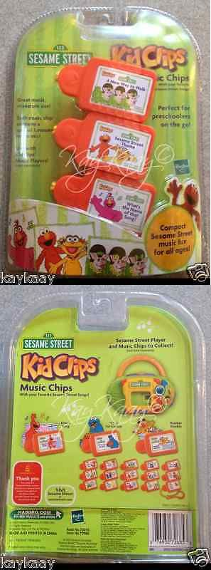 Radios Musical Toys 145943: New Rare Sesame Street Kidclips Kid Clips Music Chip 3-Pack Elmo Zoe Tully Pigs -> BUY IT NOW ONLY: $49.99 on eBay!