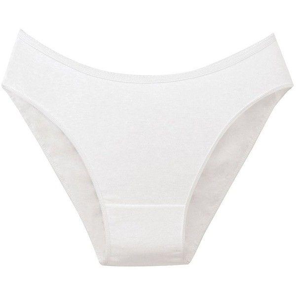 Disposable Bikini Briefs (3.36 CAD) ❤ liked on Polyvore featuring intimates, panties, white, white bikini bottoms, swim bikini bottoms and brief bikini bottoms