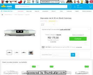 [SUBMARINO] Depurador de Ar 60 cm Bivolt Colormaq (marketplace) - R$175,00