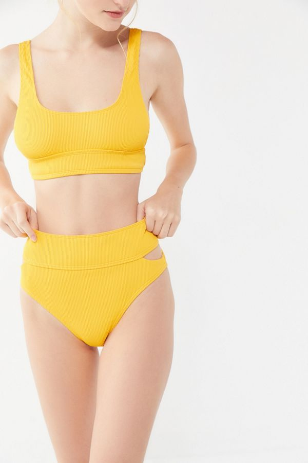 Out From Under Meg Ribbed High-Waisted Bikini Bottom