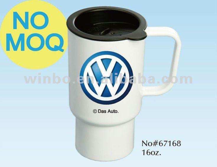16oz Foodgrade Polymer Sublimation Travel Mug/blank sublimation mug/white sublimation mug