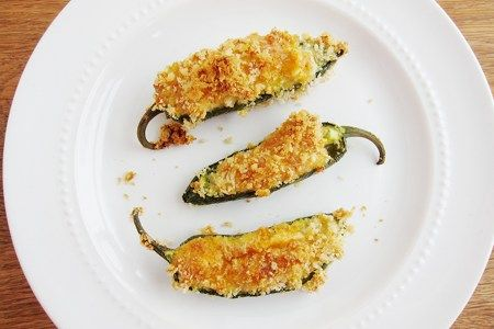 Light Jalapeno Popper - made them without the egg and bread coating. Instead sprinkled some panko just on top and sprayed with coconut oil for a crispy golden topping. Yummy!