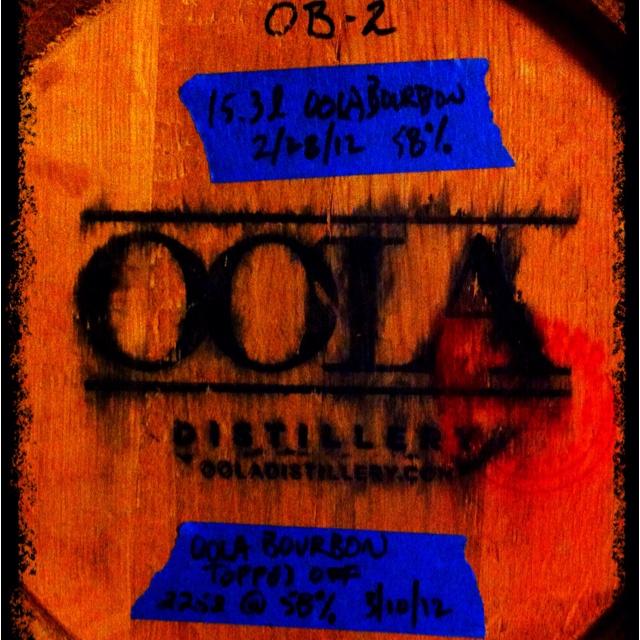 Oola Distillery's bourbon.   You ready?