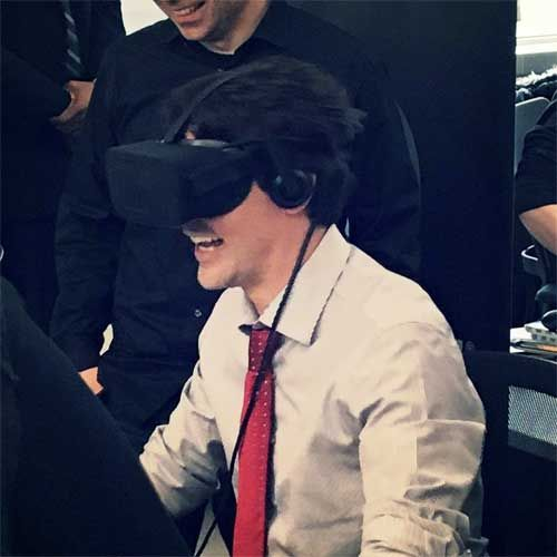 And he tries the studio's new VR game while doing it; his visit was reportedly sparked by an interest in boosting the country's tech sector ahead of the unveiling of its new budget.