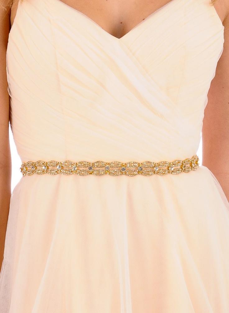 27 best bodas de oro golden weddings images on pinterest for Gold belt for wedding dress