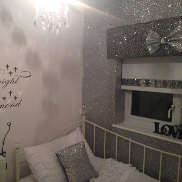 Arthouse Glitter Detail Kids Girls Bedroom Wallpaper: Best 25+ Silver Glitter Wallpaper Ideas On Pinterest