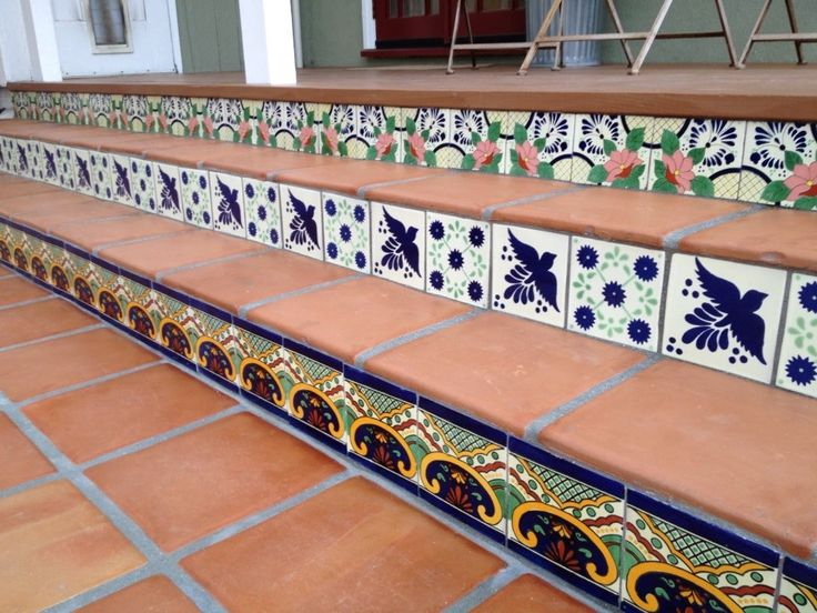 My new backyard mexican tile patio love it i want a for Mexican porch designs
