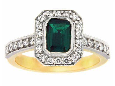 #emerald and #diamond ring | #thomasjewellers