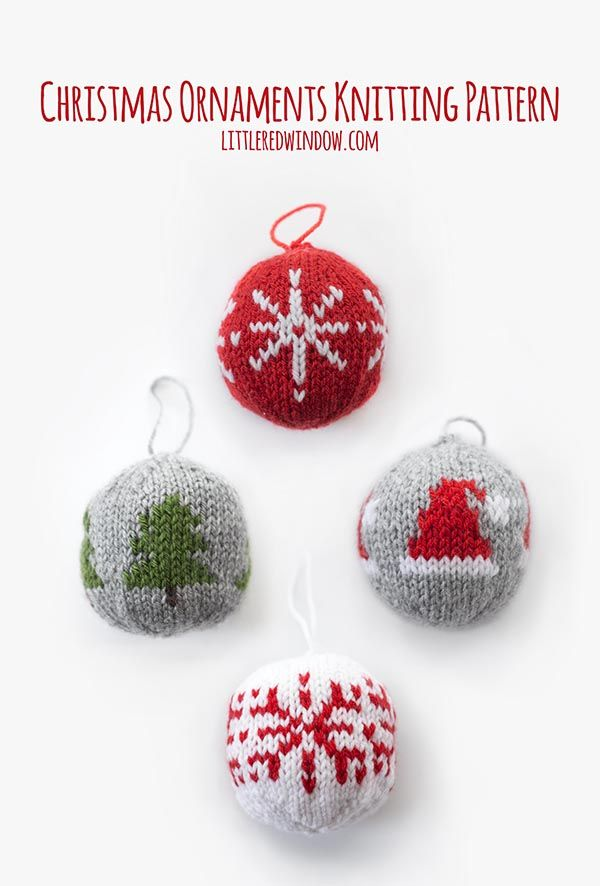 9b871fc52 This ADORABLE Knit Christmas Ornament Knitting Pattern includes ...