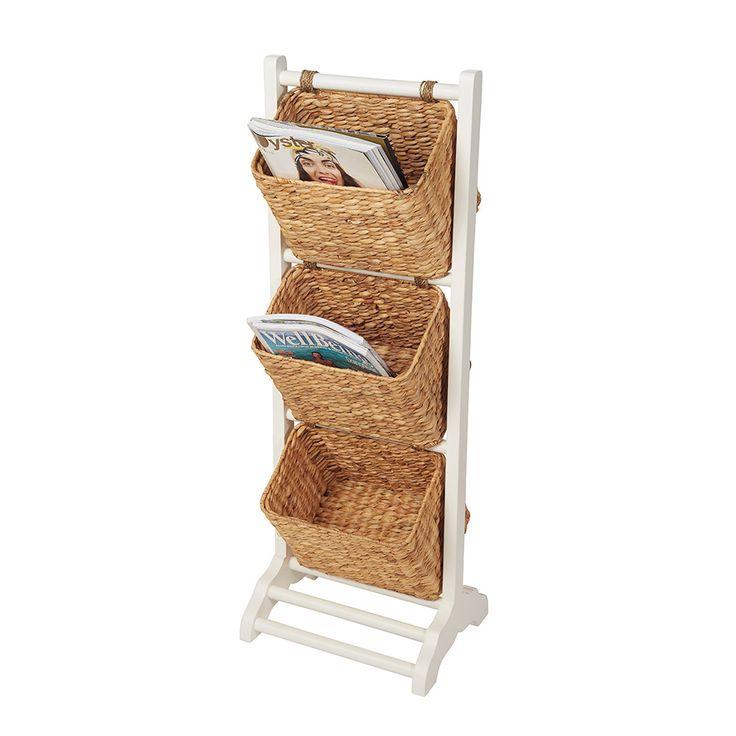 Howards Storage World | 3 Basket Magazine Rack