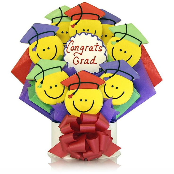 Smilely Grad Cookie Bouquet