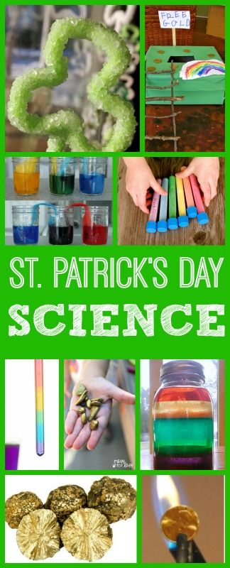 Cool Science Experiments for Kids, STEM activities St. Patrick's Day, preschool, kindergarten, elementary and middle school.