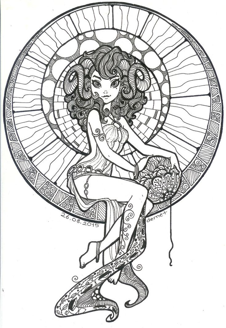 78 best images about coloring books pictures on for Capricorn coloring pages