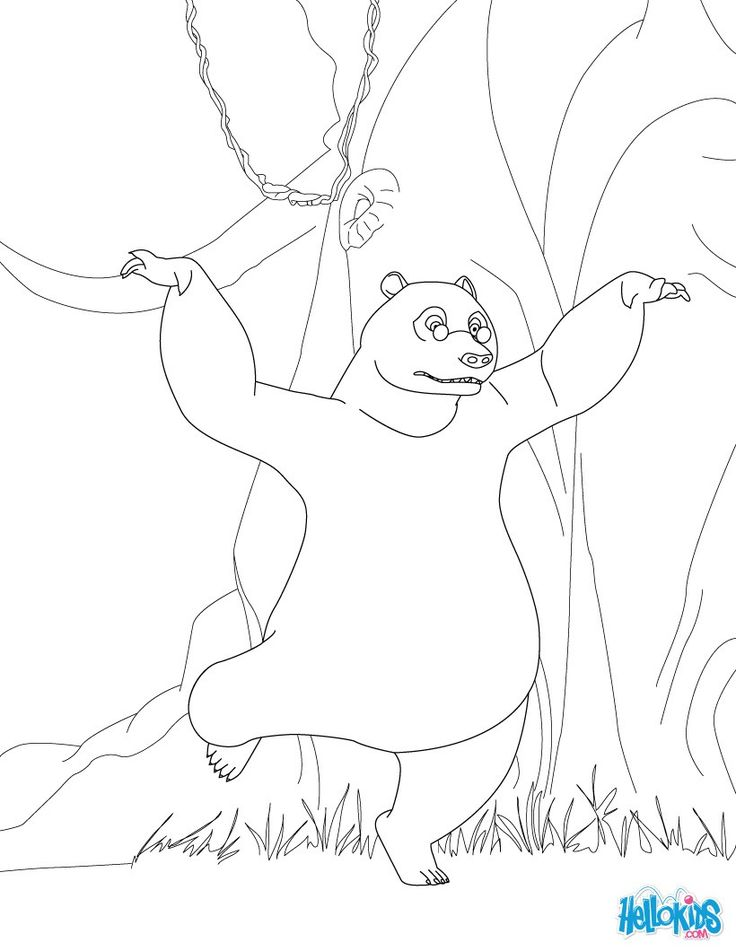 Discover this amazing coloring page of the Jungle Book