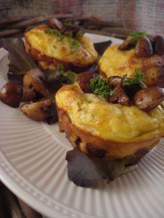Champignon muffin taartjes