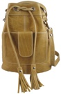 Camel Leather 'Joni' Draw String Bag. (S/S 2011)
