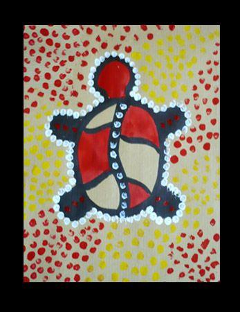 Objectifs : découvrir une technique picturale : le pointillisme aborigène Apport culturel : Les Aborigènes constituent la population autochtone de l'État océanien. Ce sont de remarquables peintres, sur écorces dans les Territoires du Nord, sur tissus...