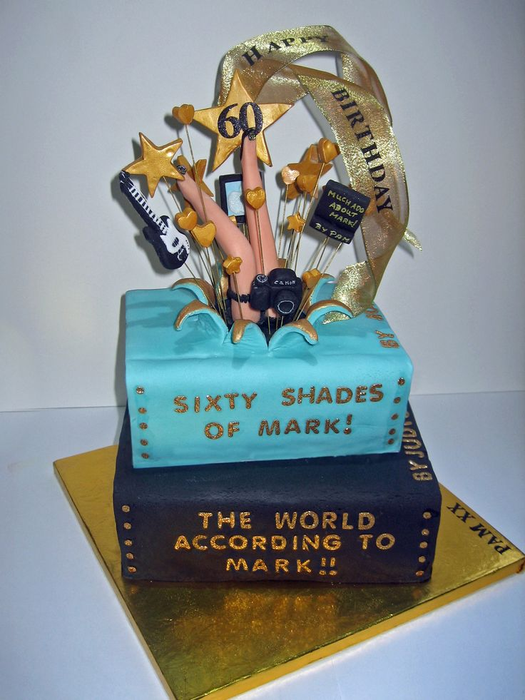 2015 An Explosion Book cake made for a friend celebrating his 60th Birthday.