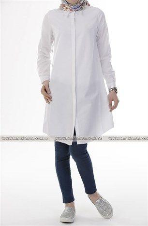Allday Tunik Gömlek 50427 Beyaz
