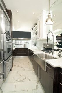 Brilliant White Kitchen Marble Floor Tundra Tumbled For Decorating