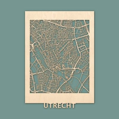 Citymap Utrecht Berken (50x70) RENDER