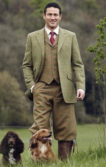 Pups, tweed and this fine fellow make a walk in the garden much more fun. | Downton Abbey, as seen on Masterpiece PBS