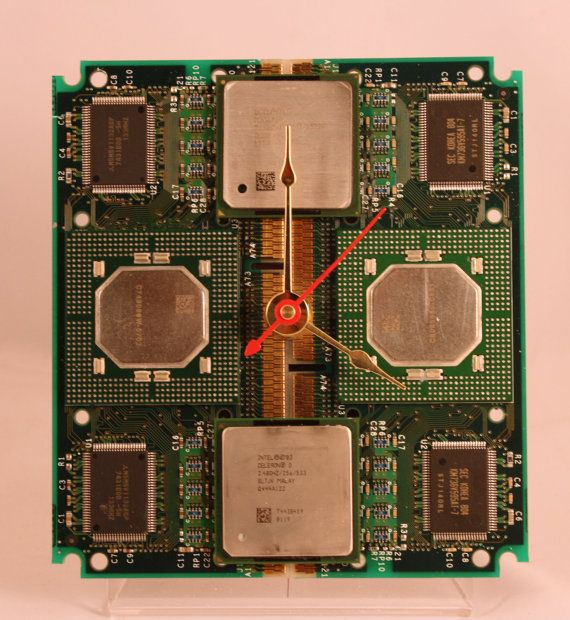 Intel Pentium II and Pentium 4 Computer Circuit Board Desk Clock