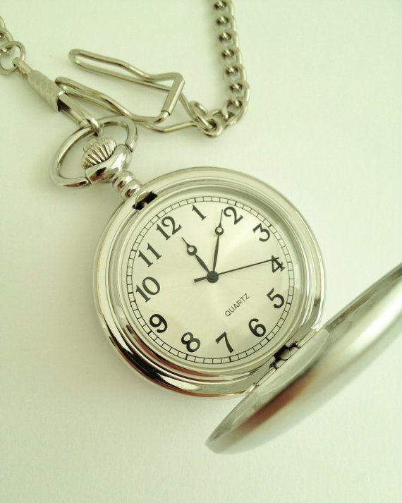 Mens Pocket Watch Engraved for Groomsmen Gift or by netexchange
