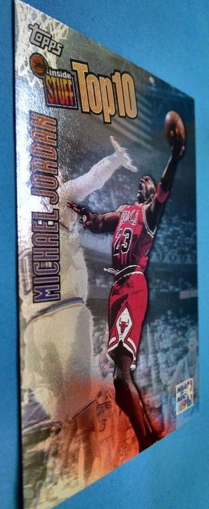 1997-98 Topps Inside Stuff #IS1 Michael Jordan Team: Chicago Bulls #ChicagoBulls